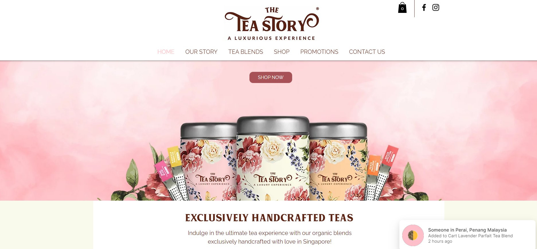 Website Tea Story