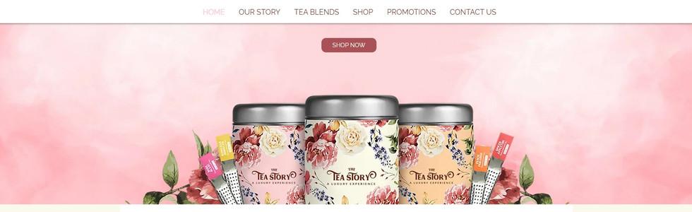 Wix Website Beispiel von Tea Story