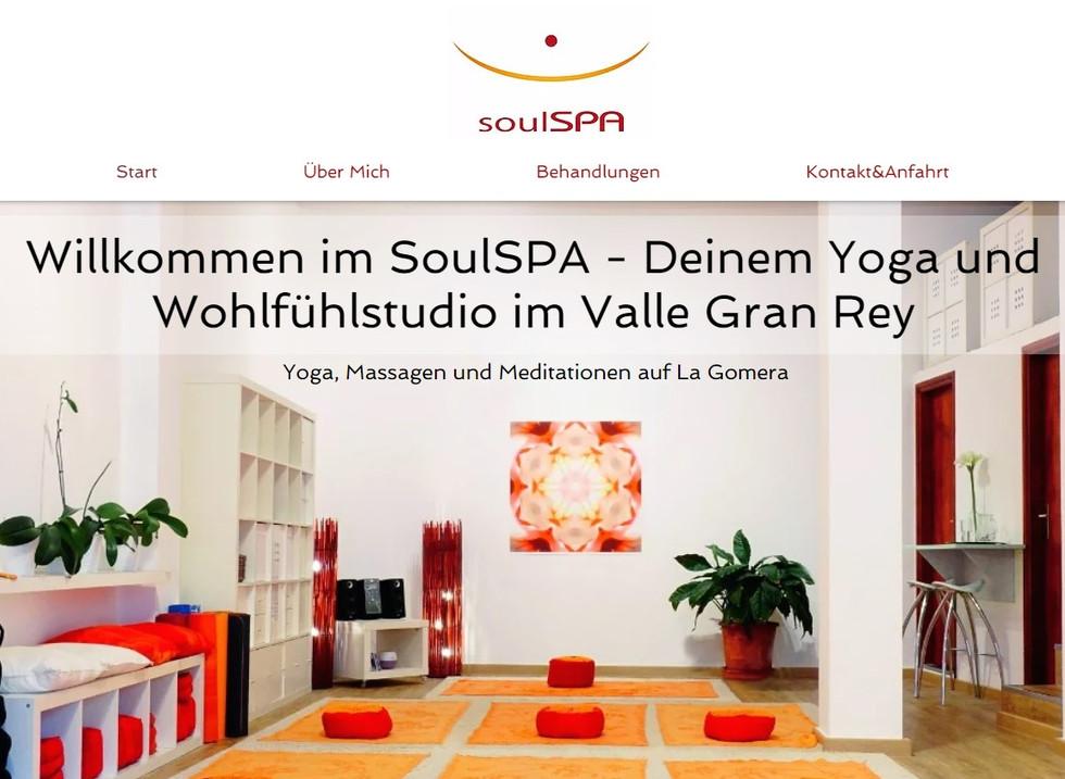 Wix-Website Beispiel soulSPA