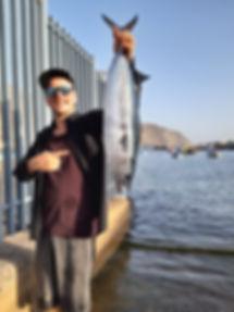 Bonito vom Ufer gefangen (Kanaren)