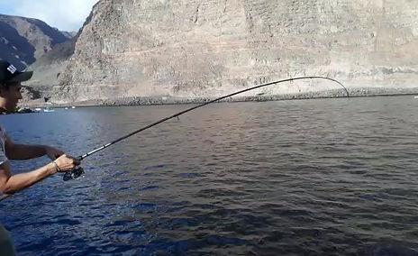 Bonitos vom Ufer angeln auf La Gomera (Kanaren)