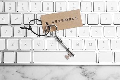 Tastatur mit der Aufschrift Keywords