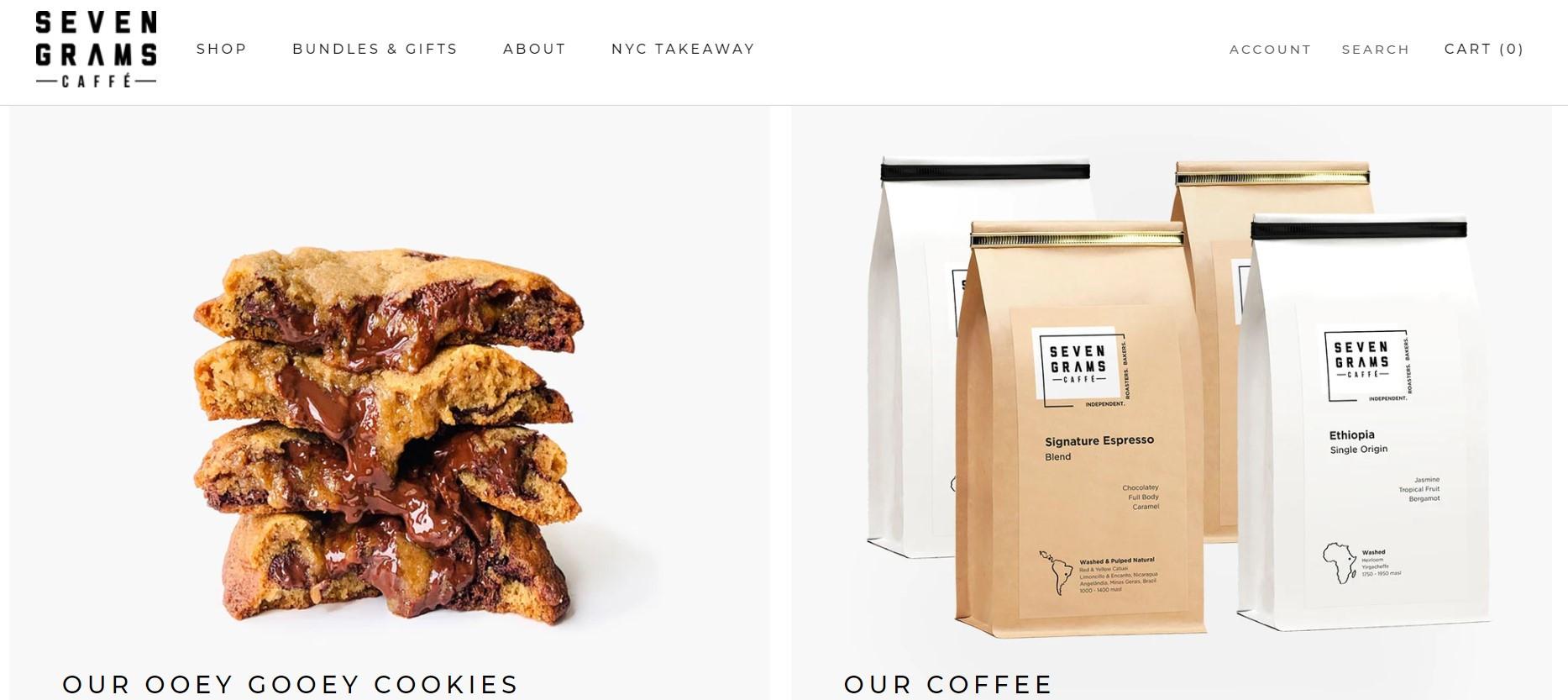 Website Seven Grams Cafe