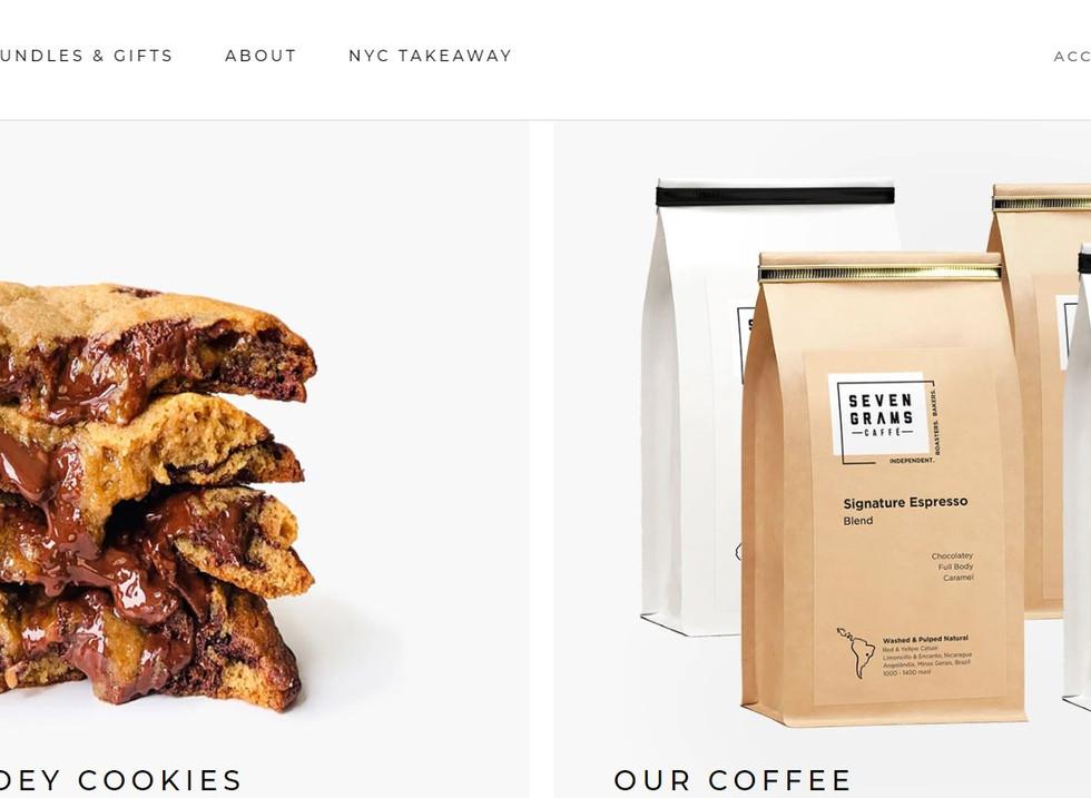 Wix-Website Beispiel von Seven Grams Cafe