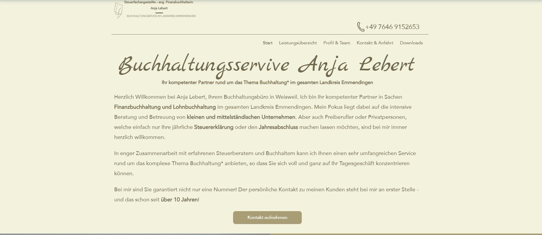 Website Anja Lebert