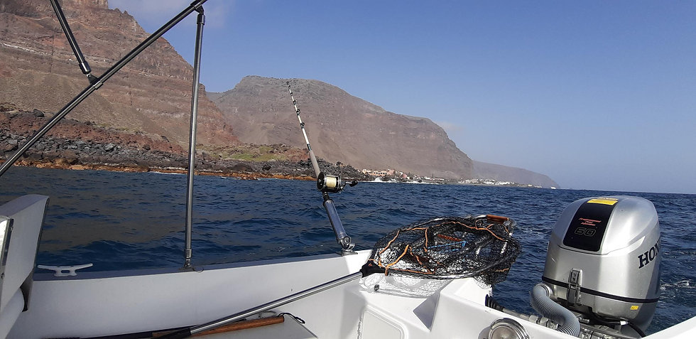 Blick von Boot auf Küste von La Gomera