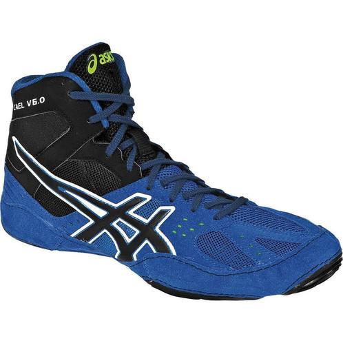 ASICS Men's Cael V5.0 Wrestling Shoe, Electric GreenBlack