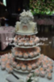 Wedding Cake, Edible paper, Cupcakes