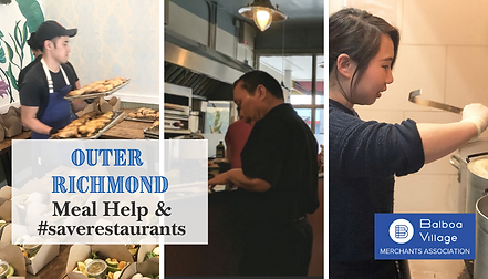 Outer Richmond Meal Help & #saverestaura