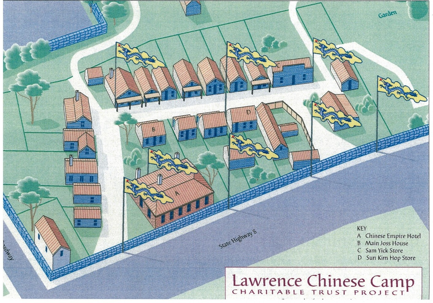 Chinese Camp Map