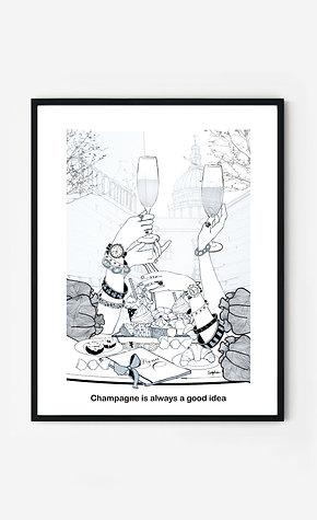 Champagne  idea