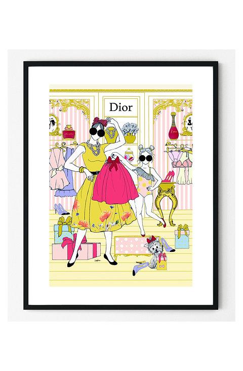 Shopping at Dior