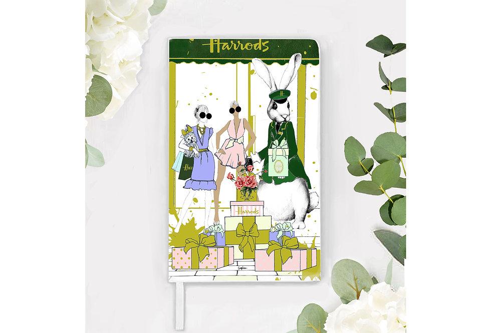Green Harrods Bunny  Notebook