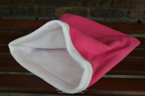 Cuddle Sack - Pink & White