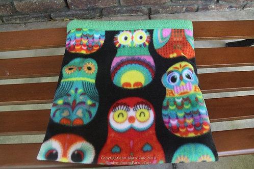 Piggie Cuddle Sack - Owls & Green