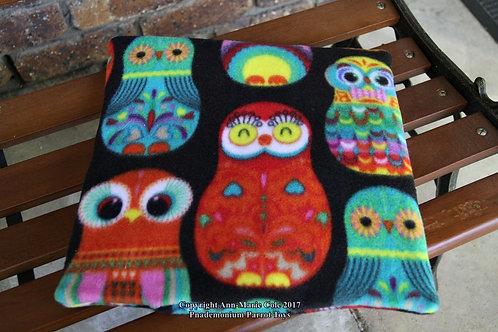 Piggie Cushion - Black Owls