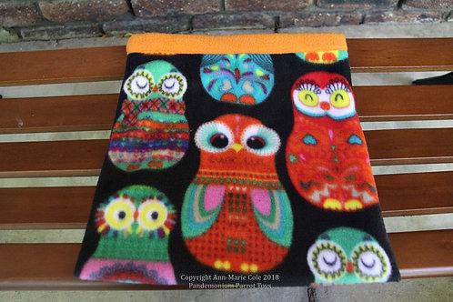 Cuddle Sack - Orange Owls