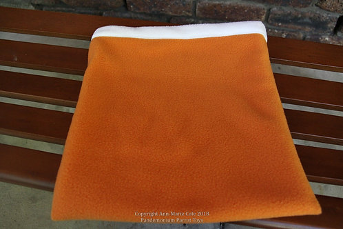 Cuddle Sack - Orange & White