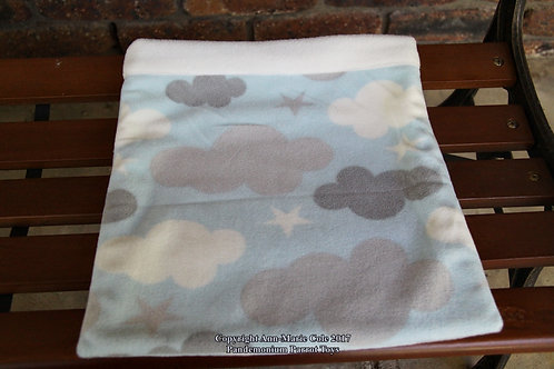 Piggie Cuddle Sack - Clouds & white