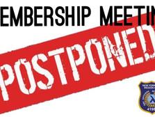 March Membership Meeting Postponed
