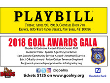 GOAL NY 36th Anniversary Awards Dinner Gala Tickets on Sale Now!