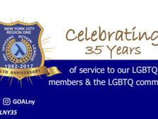 GOAL NY35th Anniversary Message