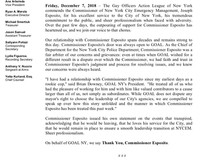 STATEMENT IN SUPPORT OF NEW YORK CITY EMERGENCY MANAGEMENT COMMISSIONER JOSEPH ESPOSITO