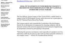 GOAL NY supports the NYPD Hispanic Society