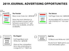 2019 GOAL Gala Journal Advertising Opportunities