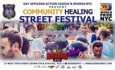 Boxers NYC& GOALnyCommunity Healing Street Festival