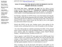 GOAL NY DEMANDS THE RESIGNATION OF BERGEN COUNTY SHERIFF MICHAEL SAUDINO
