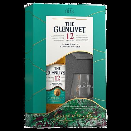 """גלנליווט 12 שנה 700 מ""""ל מארז + 2 כוסות"""
