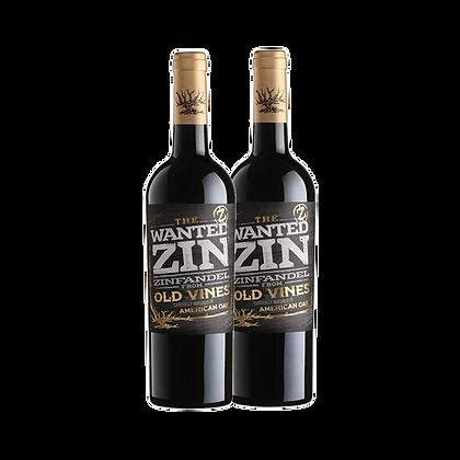 שני בקבקוים של דה וונטד זינפנדל אדום - ZIN