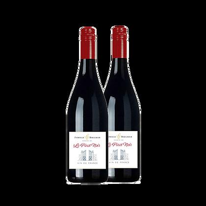 שני בקבוקים של פמייל בורגייר - פינו נואר