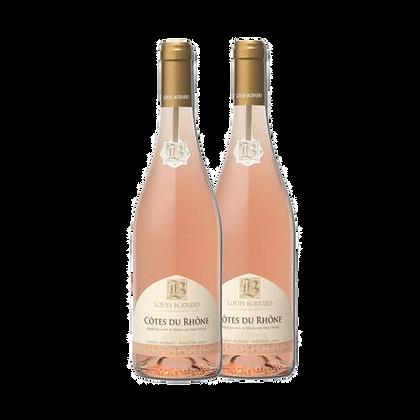 שני בקבוקים של לואי ברנרד - קוט דה רון רוזה