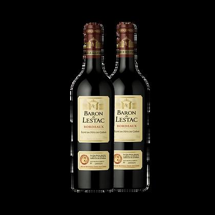 שני בקבוקי ברון דה לסטאק בורדו - אדום