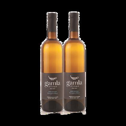שני בקבוקים של גמלא השמורה - סוביניון בלאן