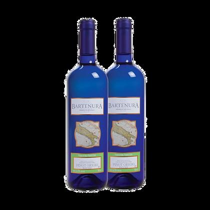 שני בקבוקים של ברטנורא - פינו גריג'יו (כשר)