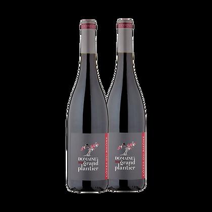 שני בקבוקים של שאטו דה דומאזאן