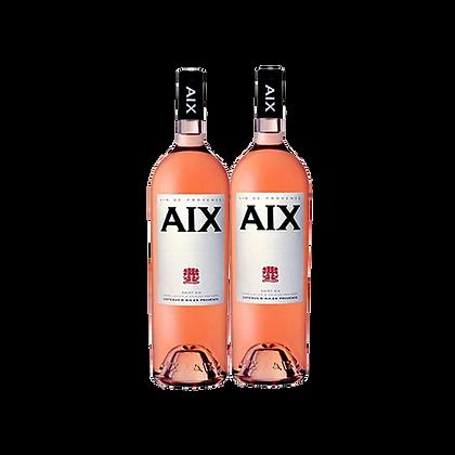 אקס - רוזה פרובאנס Aix שני בקבוקים של