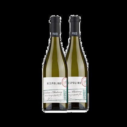שני בקבוקים של נספולינו טרביאנו - שרדונה