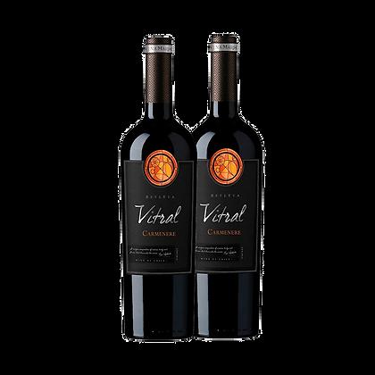 ויטרל כרמינר - Vina Maipoשני בקבוקים של מיפואבלו