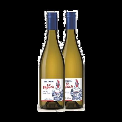 שני בקבוקים של בסטהיים סו פרנץ - לבן