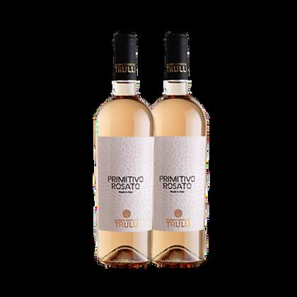 שני בקבוקים של טרולי פרמיטיבו - רוזה