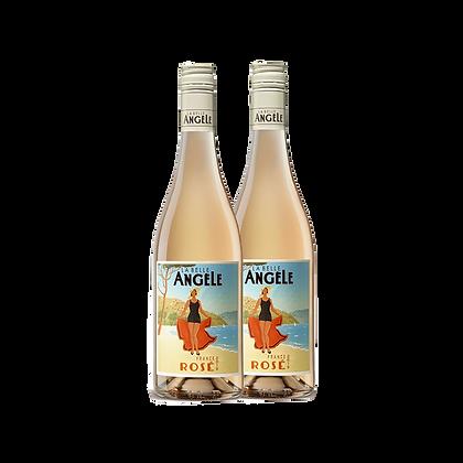 שני בקבוקים של לה בל אנג'ל - רוזה