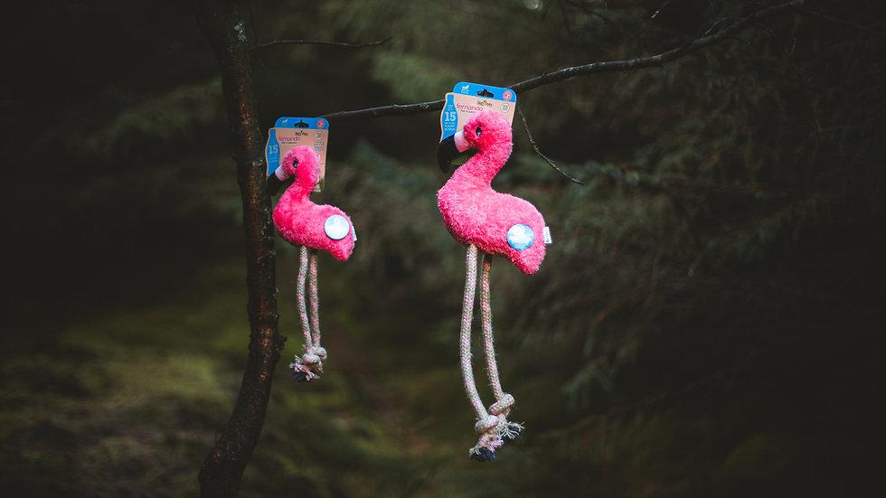 Large Hemp Rope Flamingo