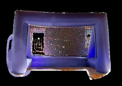 Aufblasbares Tor mit integriertem Gebläse
