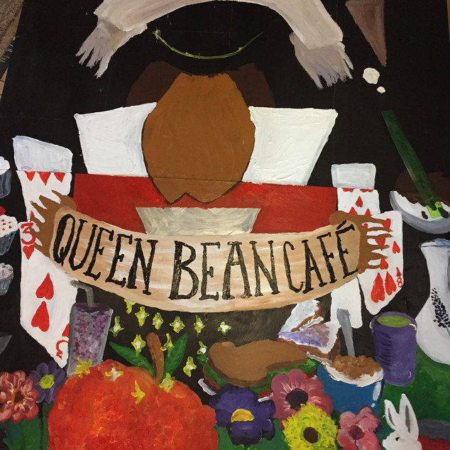 Queen Bean Cafe Mural Design