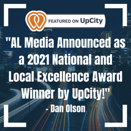 AL Media Announced as a 2021 National and Local Excellence Award Winner by UpCity!