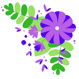 Purple flower, bloom, summer